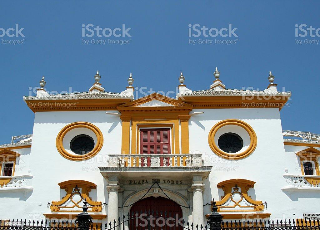 Bullfighting arena Seville royalty-free stock photo