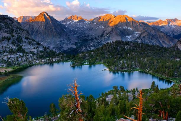 Bullfrog Lake, California, United States of America stock photo