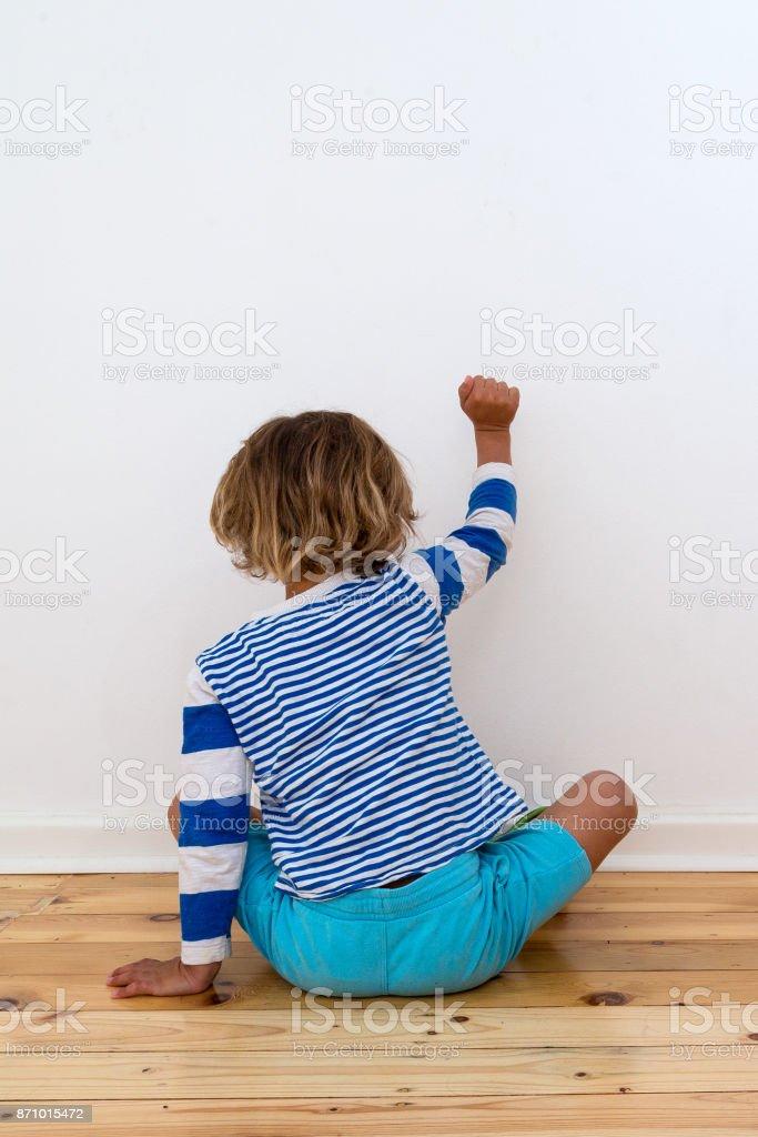 Bullied child stock photo