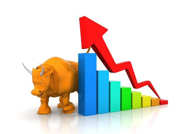 Bullish And Bearish Markets stock photo