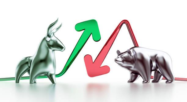 Bullish And Bearish Markets stock photo