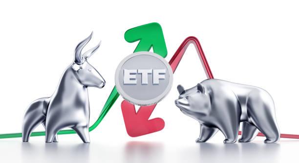 Bullish & Bearish Trends of ETF stock photo
