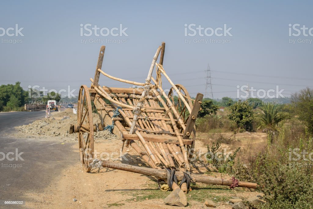 Bullock cart stock photo