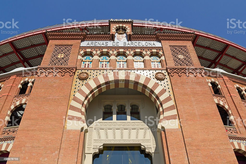 Bullring Arenas on Spain Square. Barcelona royalty-free stock photo