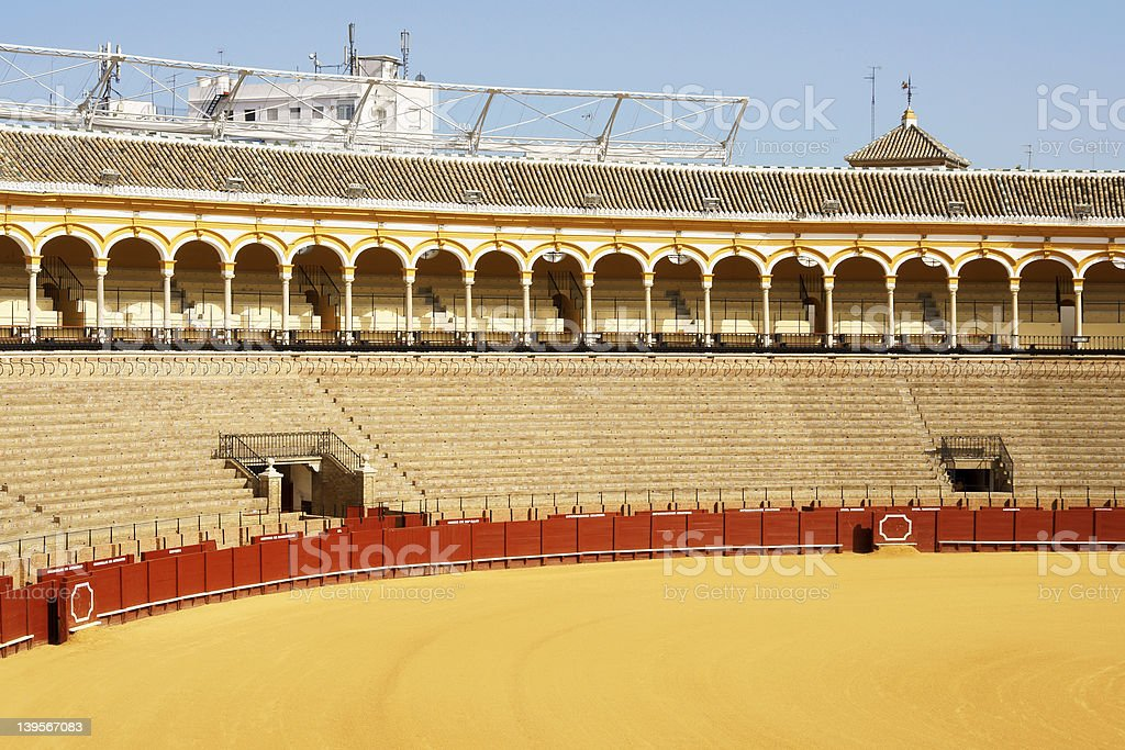 Plaza de Toros in Seville royalty-free stock photo