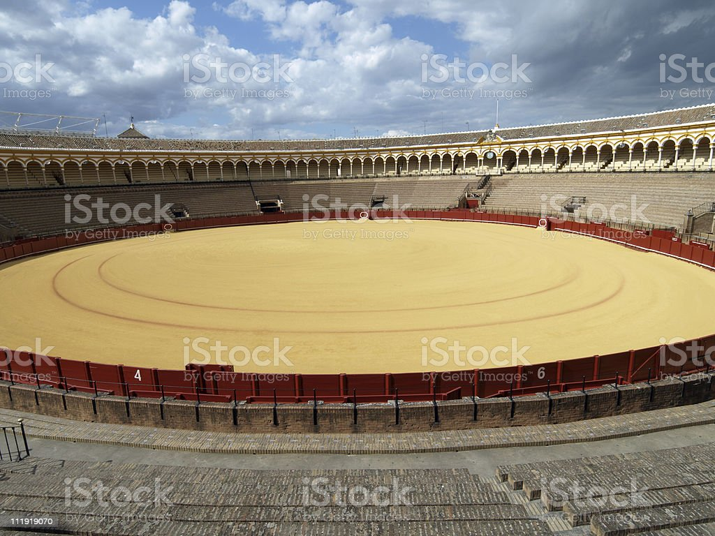 Bullring in Seville, Spain royalty-free stock photo