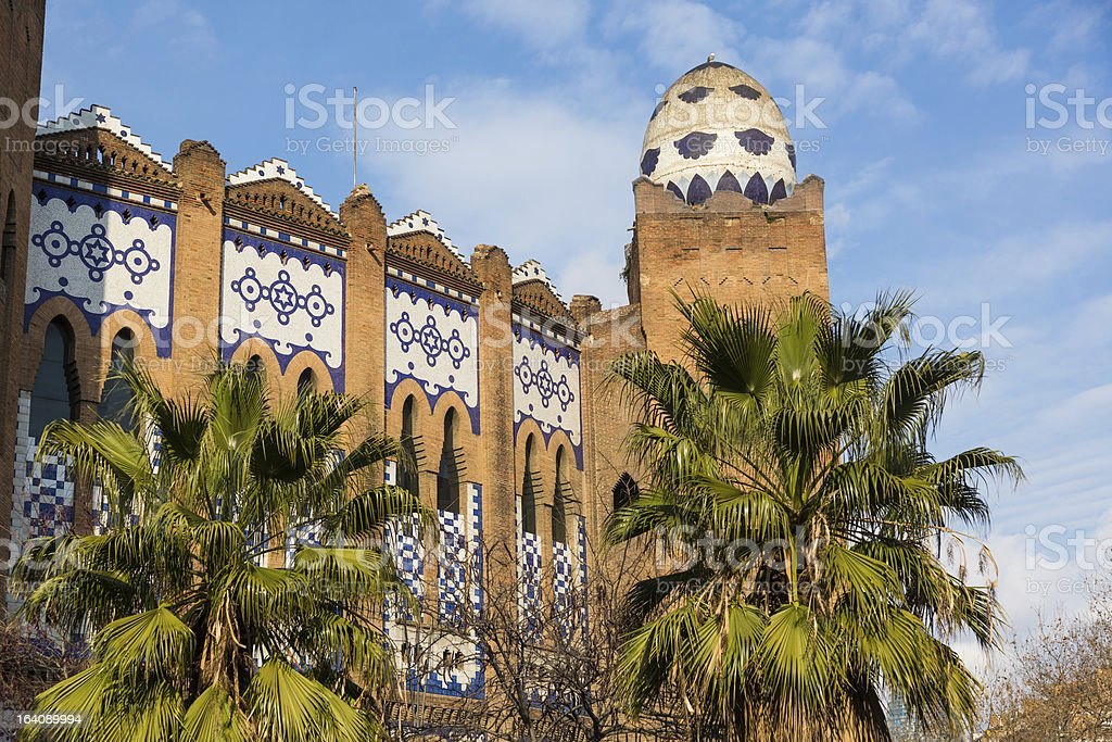 Bullring Monumental in Barcelona royalty-free stock photo