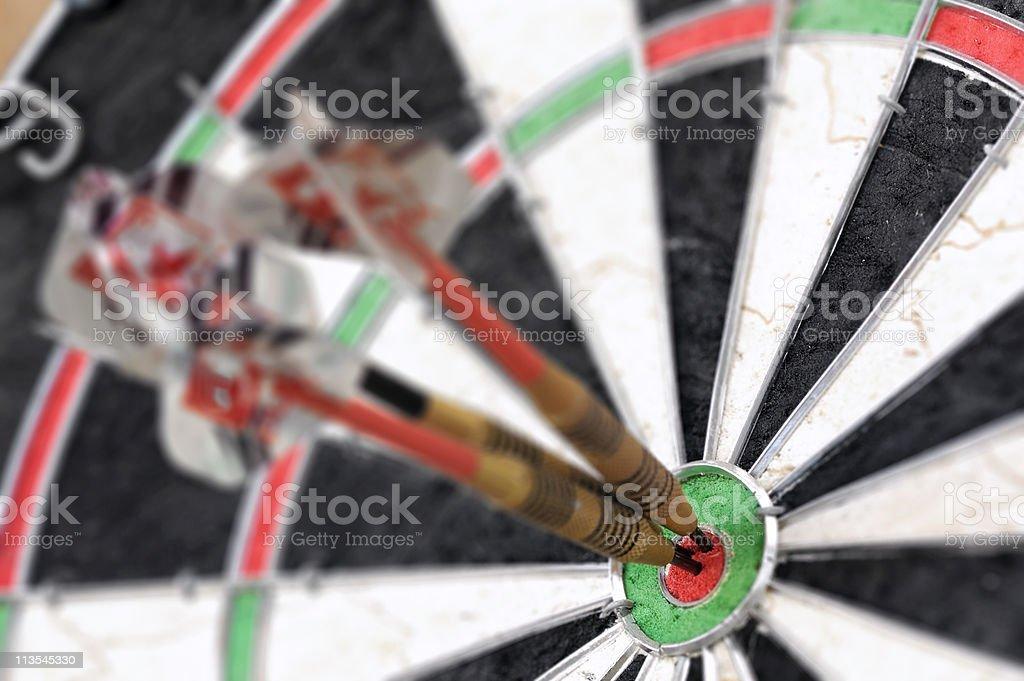 Bulls eye close-up royalty-free stock photo