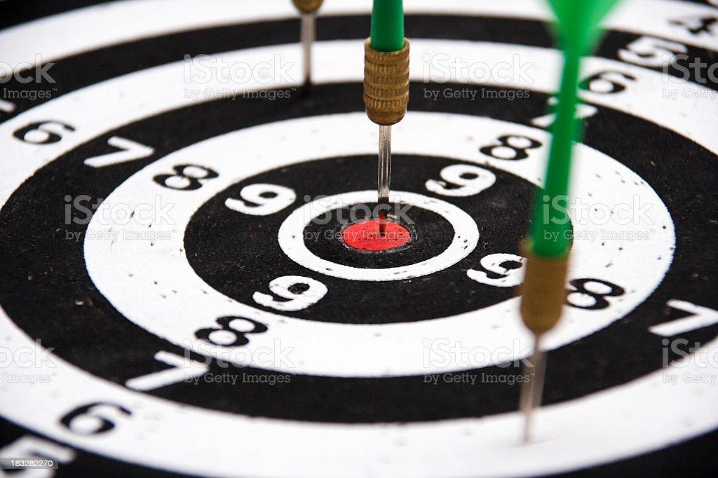 Bulls eye dart royalty-free stock photo