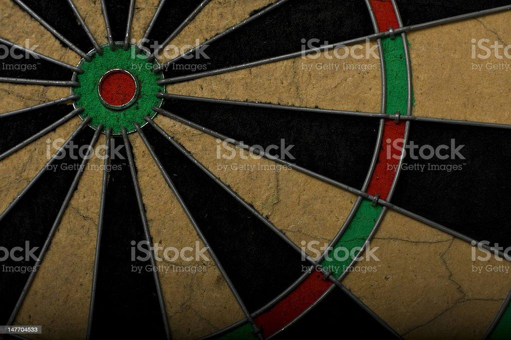 Part of a dartboard