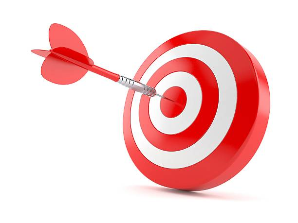 bull's eye - sports target stock photos and pictures