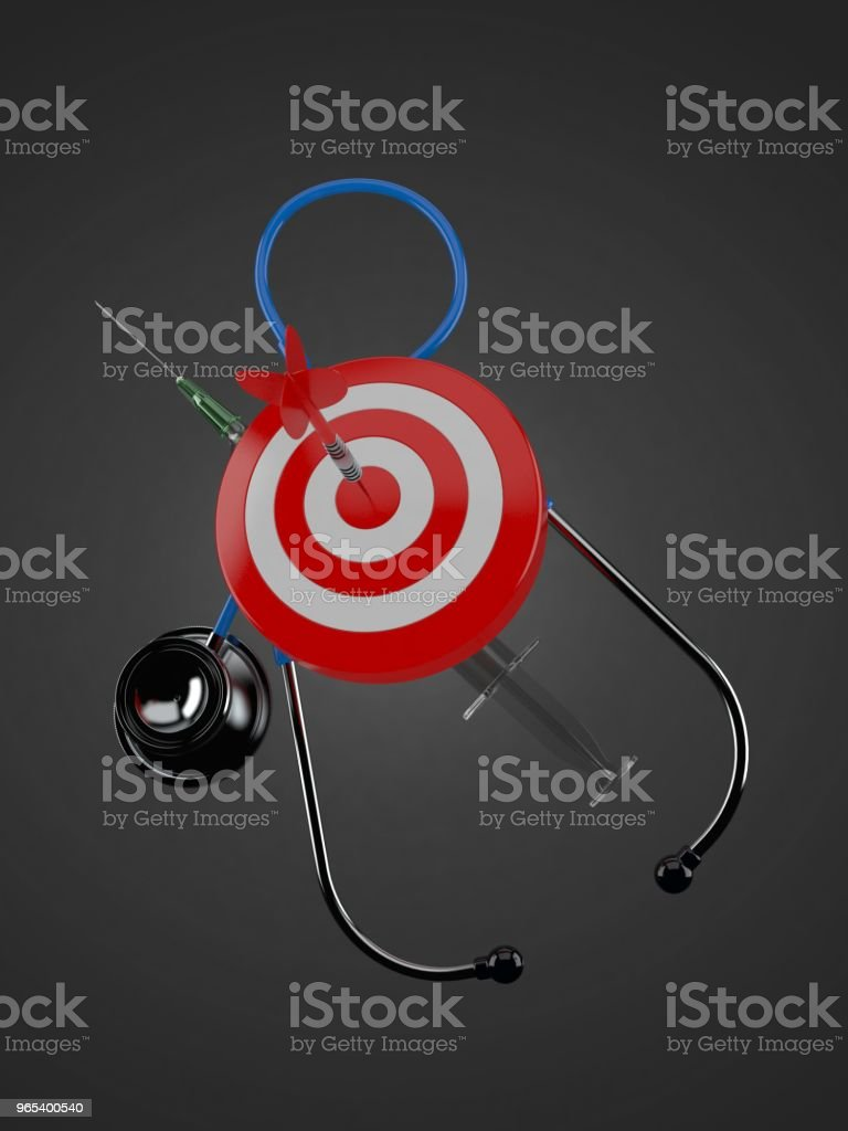Bull's eye with stethoscope royalty-free stock photo