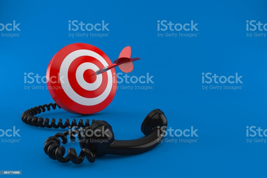 Bull's eye with telephone handset royalty-free stock photo