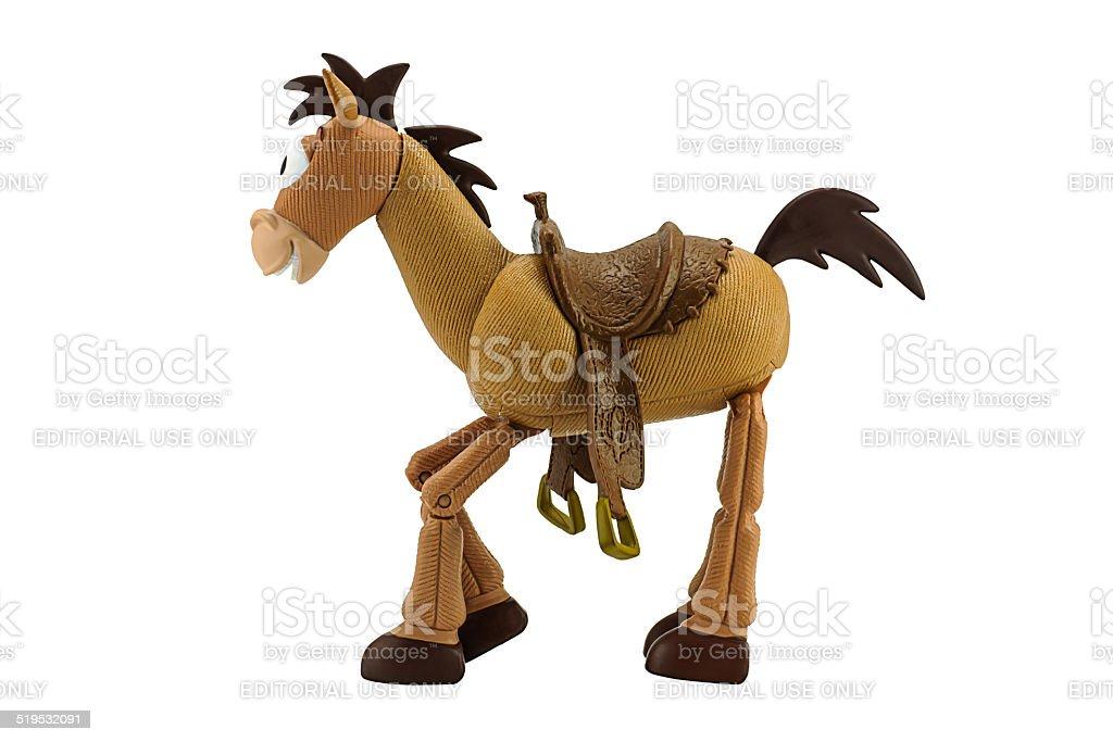 Bullseye cowboy woody's horse. stock photo