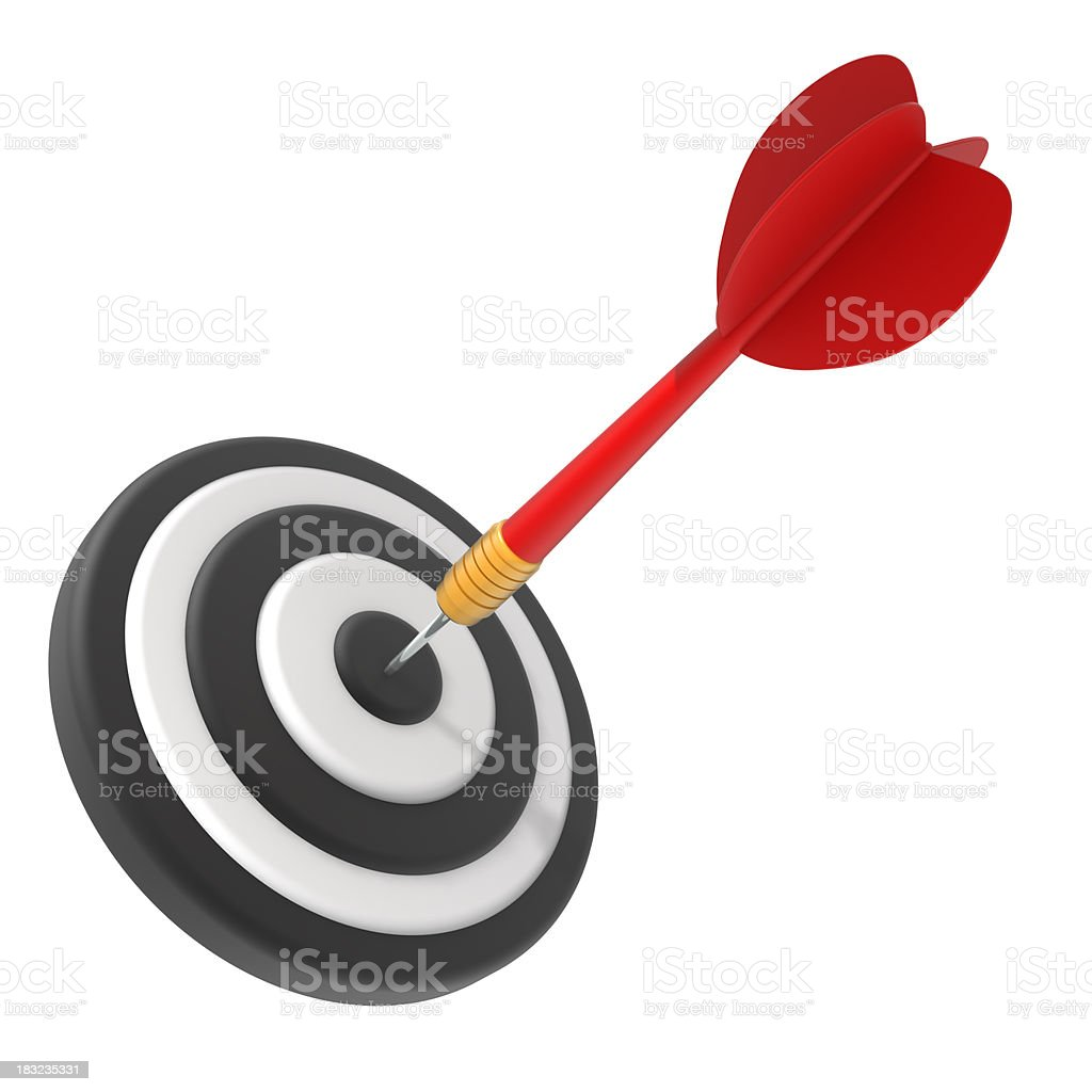 Bullseye: Hitting the target royalty-free stock photo