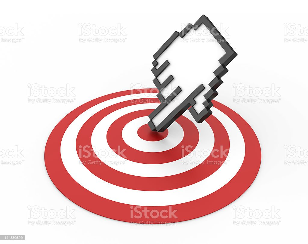 Bull's-Eye with Cursor. royalty-free stock photo