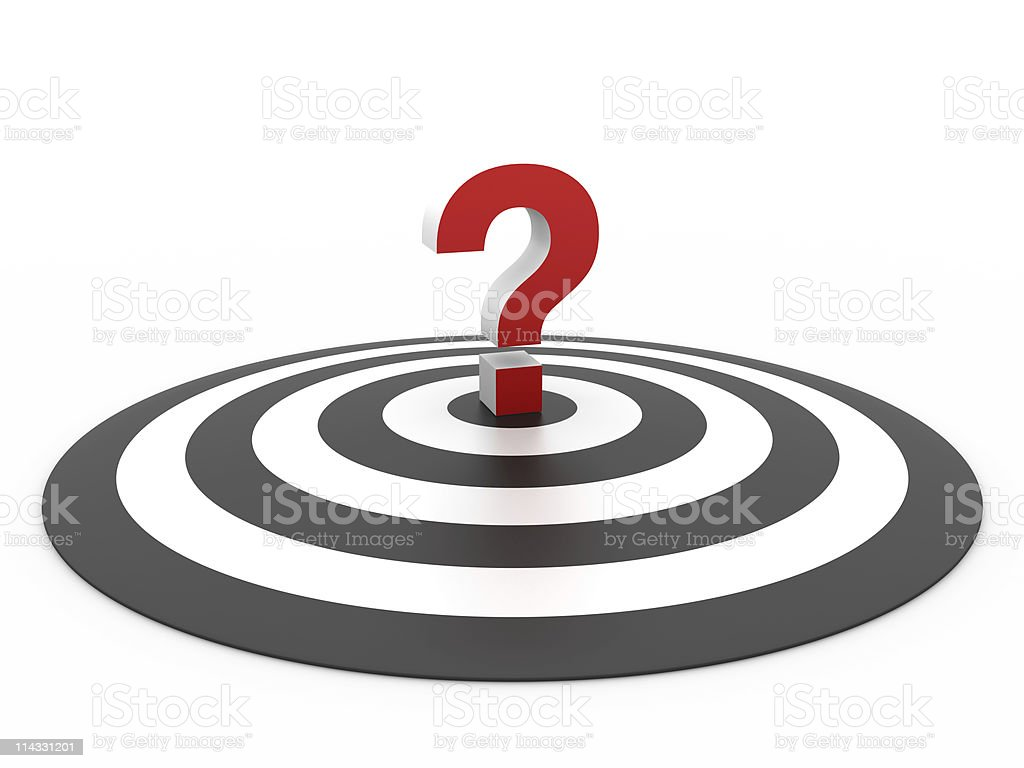 Bull's-Eye with Question Mark royalty-free stock photo