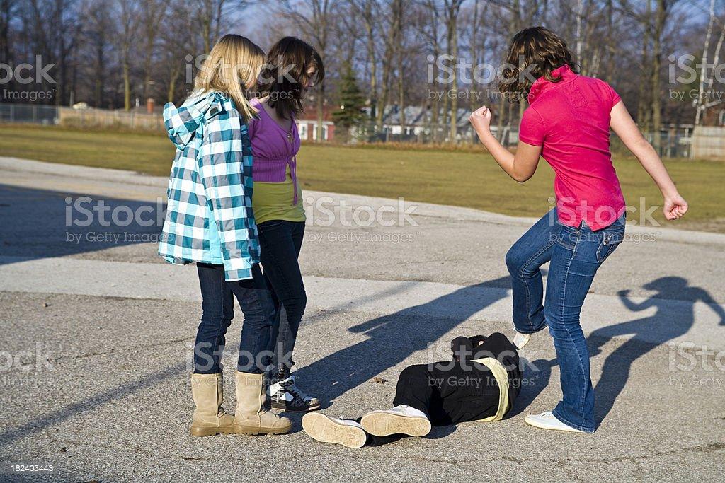 Bullying at school stock photo