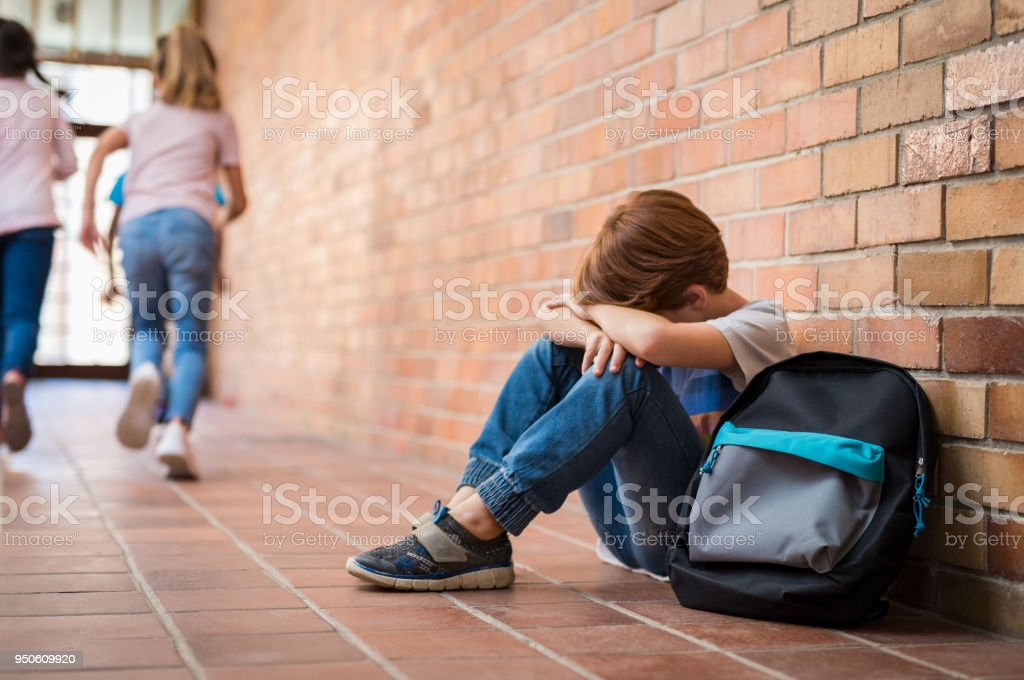 Bullying at school royalty-free stock photo
