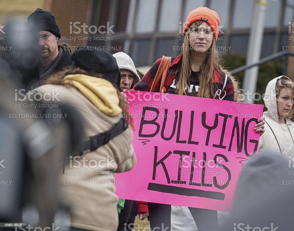Bullying Kills stock photo