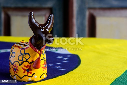 Small handmade doll representing the figure of