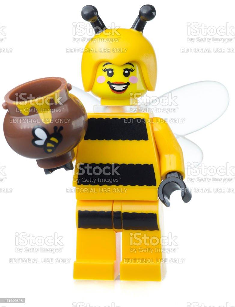 Bumble Bee Girl Lego Mini Figure royalty-free stock photo