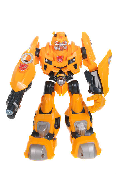 bumblebee action figure - transformers stock photos and pictures