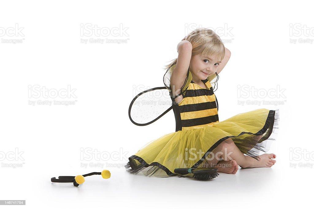 Bumblebee girl stock photo