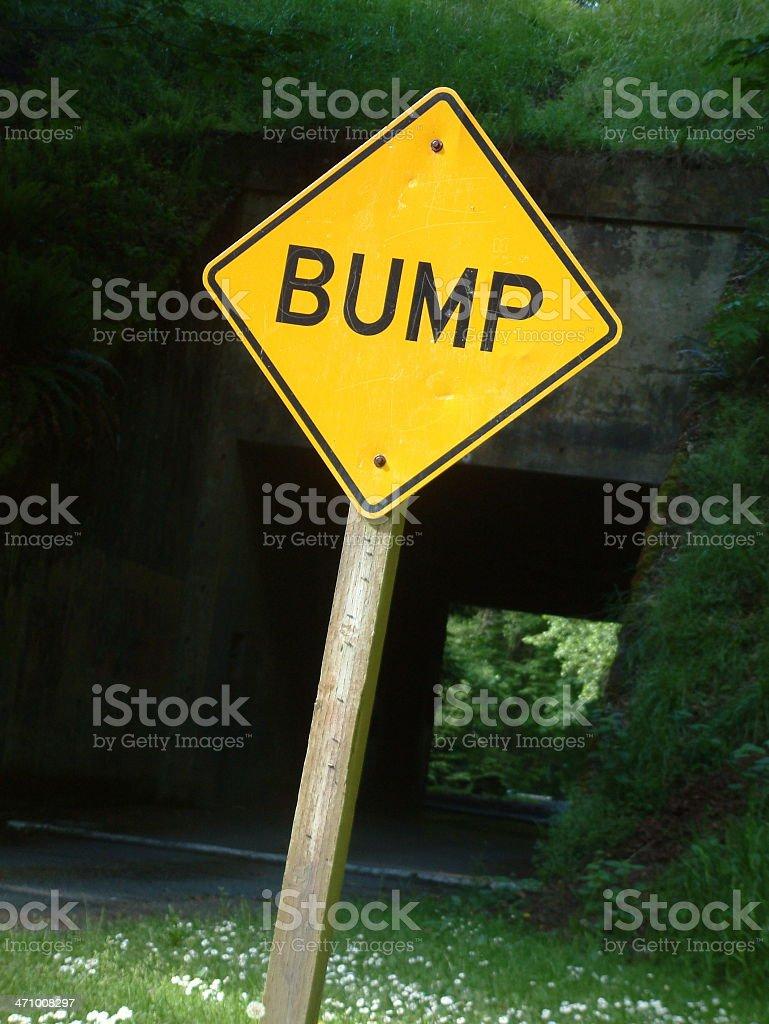 Bump Ahead royalty-free stock photo