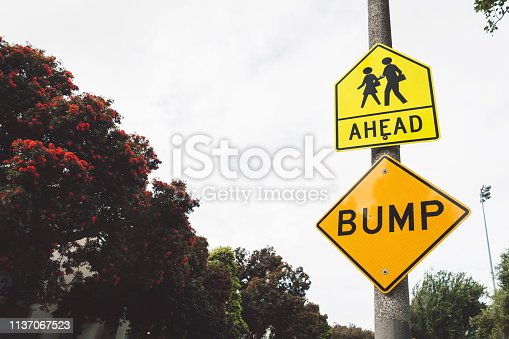 Bump Ahead Sign in San Francisco, California.