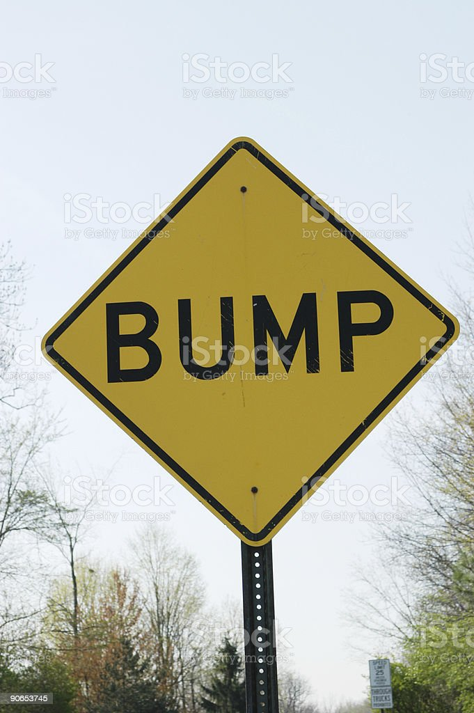 Bump Road Sign royalty-free stock photo