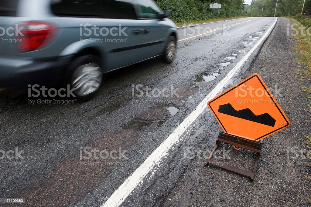 Bump sign royalty-free stock photo