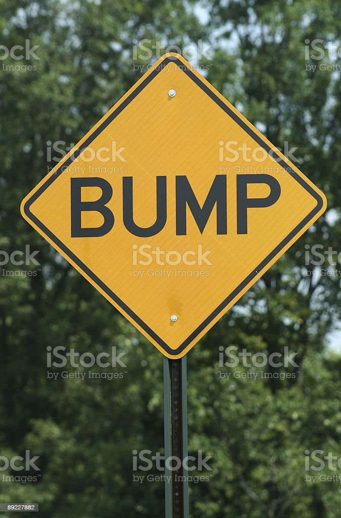 Bump sign royalty-free stock photo