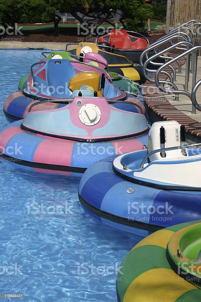 Bumper Boats stock photo