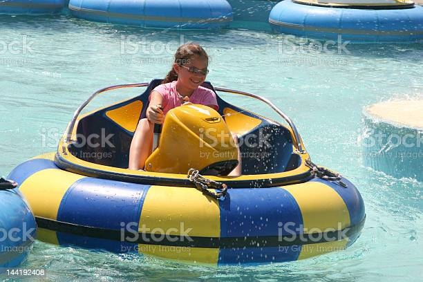 Bumper Boats Ride At Waterpark Stock Photo - Download Image Now