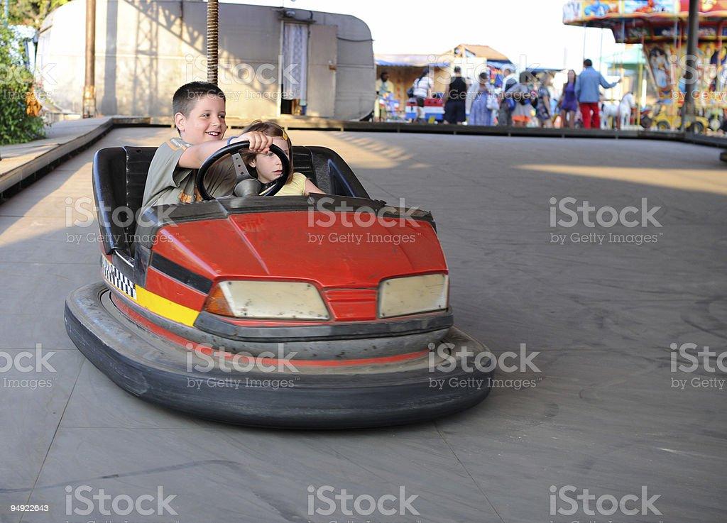 Bumper car fun stock photo