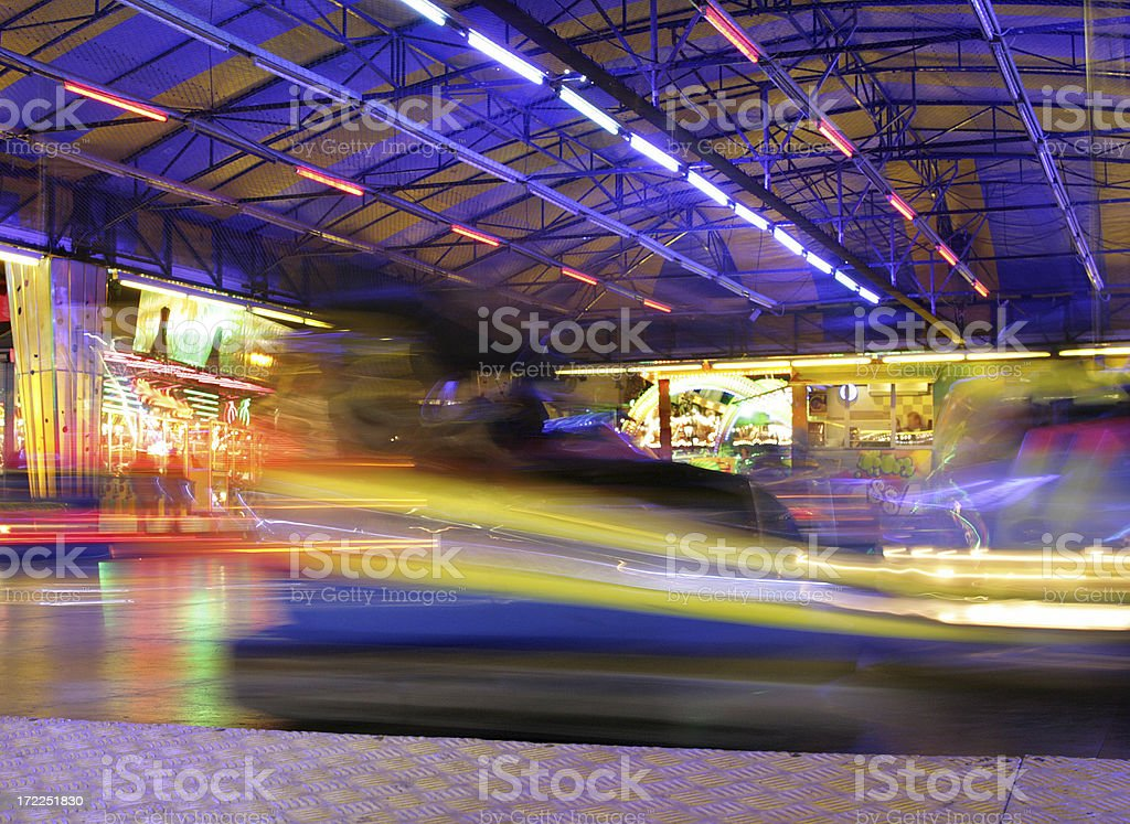 Bumper Cars in Action 1 royalty-free stock photo