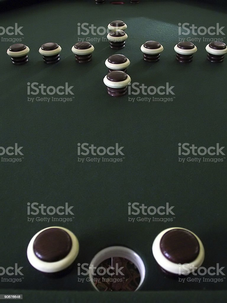 Bumper Pool Table 2 stock photo