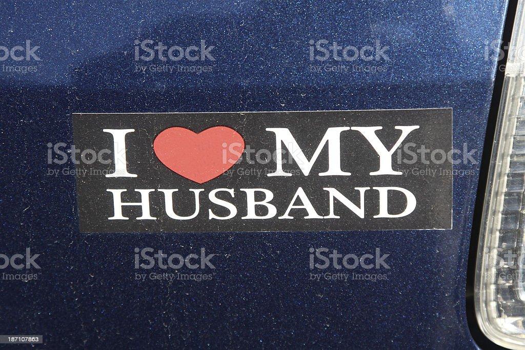 Bumper Sticker stock photo