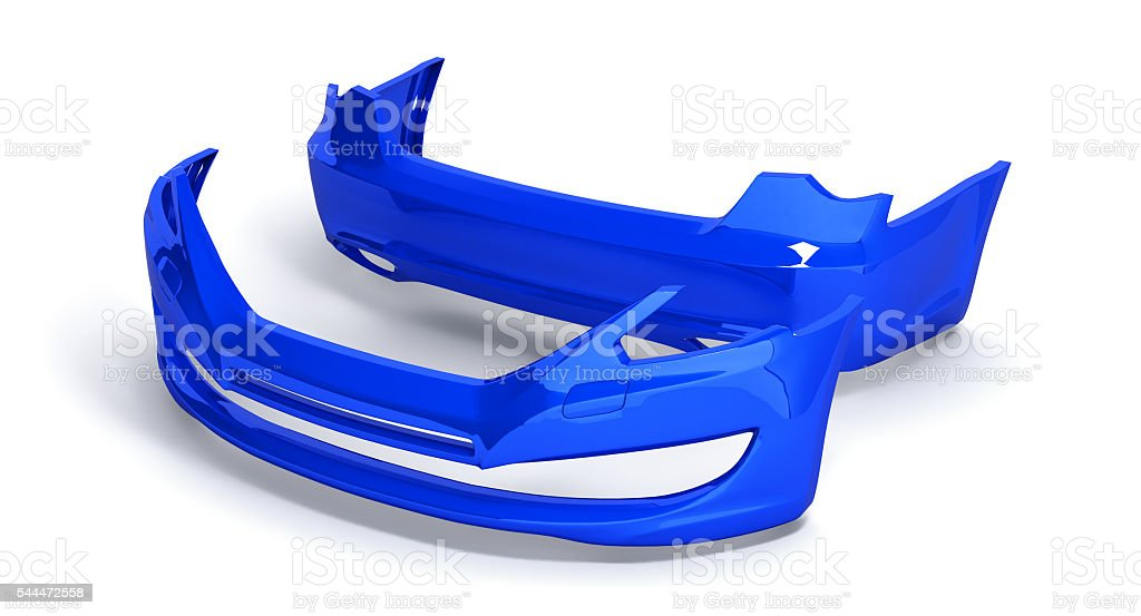 bumpers of the car on a white background 3d stock photo
