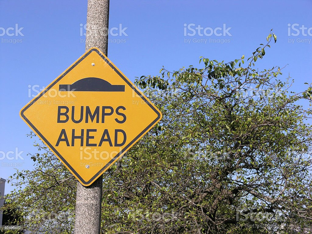 Bumps Ahead stock photo
