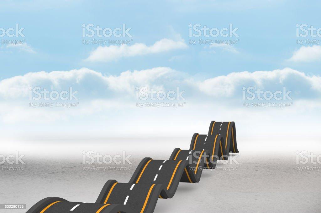 Bumpy road backdrop stock photo