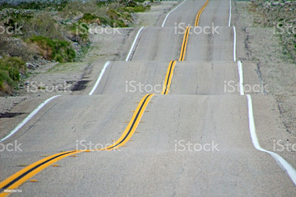 Bumpy Road stock photo