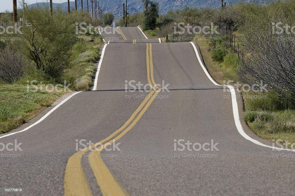 Bumpy Rural Road royalty-free stock photo