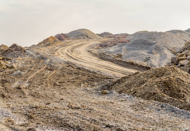 cenário instável - estrada em terra batida - fotografias e filmes do acervo