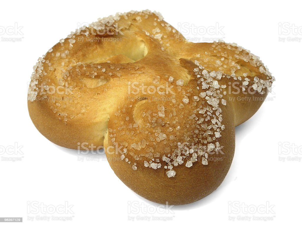 bun with sugar royalty-free stock photo