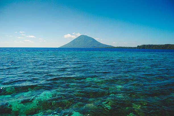 Bunaken reef Manado Tua island near Bunaken Island in Sulawesi manado stock pictures, royalty-free photos & images