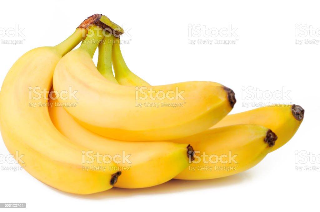 bunch Bananas isolated royalty-free stock photo