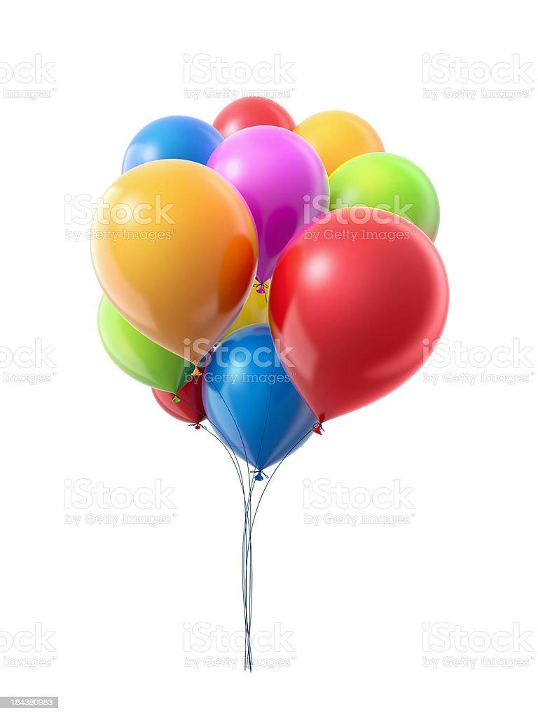Bunch oа balloons royalty-free stock photo