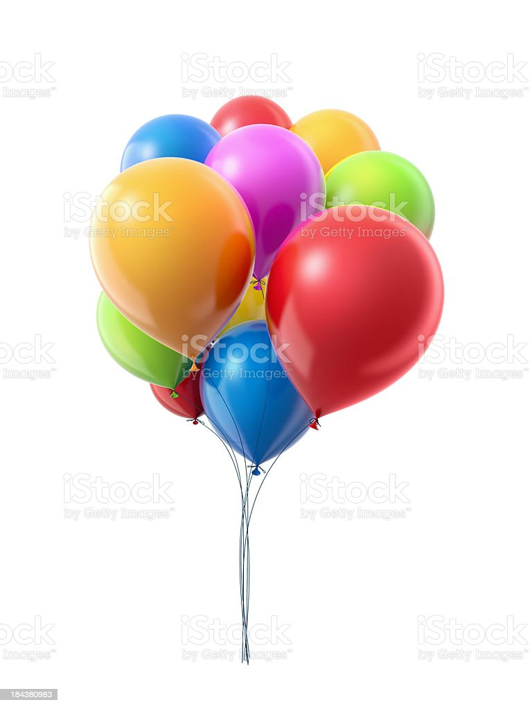 Bunch oа balloons stock photo